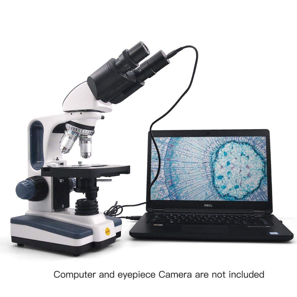 Microscope et un ordinateur