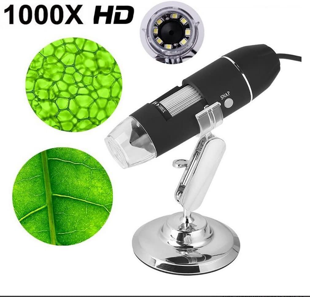 Microscope 1000X 8 LED Électronique Numérique USB Professionnel