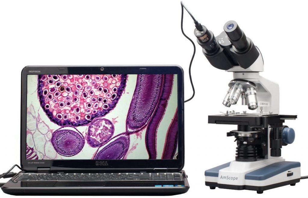 AmScope B120C-E1 Microscope binoculaire numérique à LED
