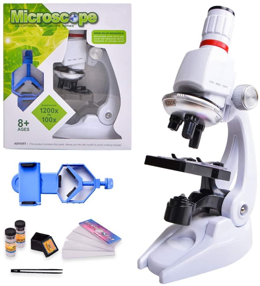 HONPHIER® Microscope Enfant Jouet pour Enfants