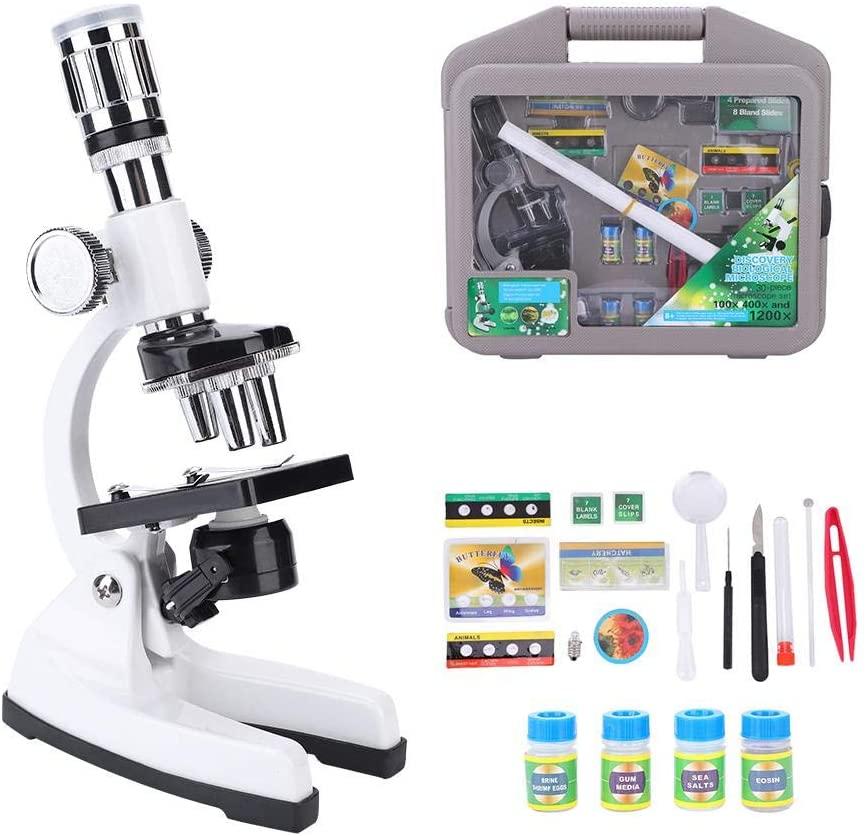 Alomejor 1200X Kit de Microscope de Biologie